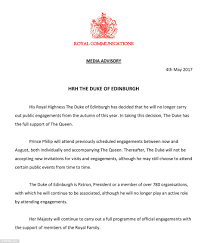 Retirement Invitation Card Matter In English Prince Philip Readies To End 70 Years Of Royal Engagements Daily