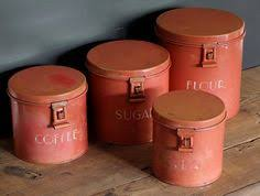 antique kitchen canister sets retro red canisters 50s kitchen canister set tea by whimzythyme