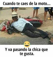 Moto Memes - dopl3r com memes uando te caes de la moto y va pasando la