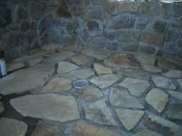 rock bathroom floor decoration
