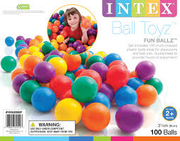 100 pack intex large plastic multi colored ballz for pits
