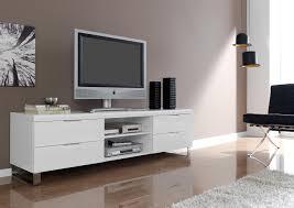 pied de canapé conforama acheter votre meuble télé contemporain laqué blanc pied chromé