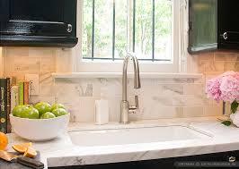 White Calacatta Gold Marble Subway White Countertop Idea - White marble backsplash