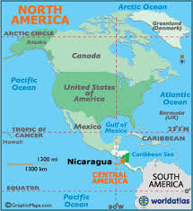 us map equator nicaragua map geography of nicaragua map of nicaragua