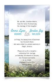 post wedding reception wording exles wedding reception invite wording after destination mini bridal