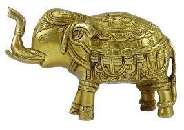 elephant figurine decorative animal golden sculpture table home