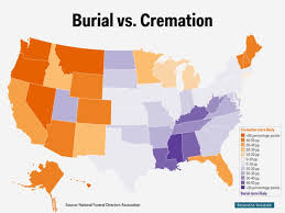 all california cremation cremation vs burial state map business insider