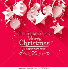 greeting card modern christmas greeting card paper decorations stock vector