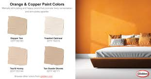 orange u0026 copper paint colors