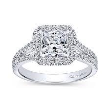 princess cut halo engagement ring princess cut halo engagement rings gabriel co