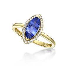 marquise cut diamond ring 1 39 marquise cut tanzanite diamond ring in yellow gold