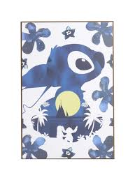 disney lilo u0026 stitch silhouette moon wood wall art topic