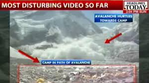 Where Is Mount Everest On A World Map by Nepal Earthquake Avalanche Hits Mount Everest Base Camp Youtube