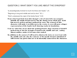 synopsis questionnaire research analysis power
