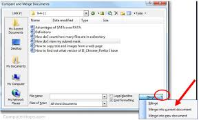 how to merge or combine multiple files