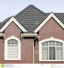 brick house home exterior tile roof stock image image 13595371