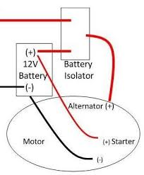 battery isolator boat wiring