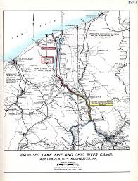 Ohio Rivers Map by Lake Erie And Ohio River Canal