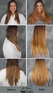 ombre hair growing out before after a no fuss natural style the salon by lora brown