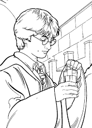 harry potter easy coloring pages free printable harry potter