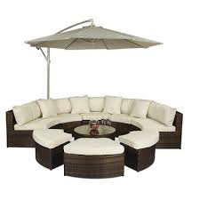 buy monaco large rattan semi circle sofa set from our rattan