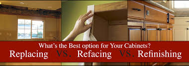 renovation advice on replacing refacing or cabinet refinishing