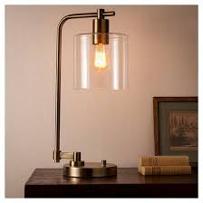 hudson industrial desk lamp antique brass includes cfl bulb