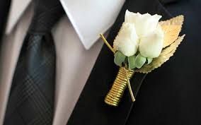 gold boutonniere boutonnieres in gold and blush gold leaf boutonniere white