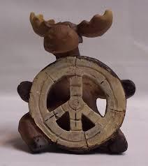 peace moose figurine rustic home cabin decor nat u2022 11 99 picclick