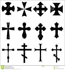 black silhouettes of crosses catholic christian celtic pagan