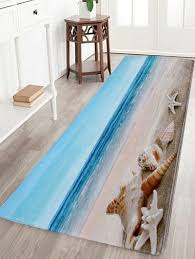 2018 coral fleece beach scenery soft area rug colormix w inch l