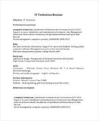 computer resume download it technician resume designsid com