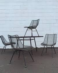 Metal Mesh Patio Table Metal Chairs Outdoor Furniture Hogansofhale
