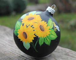sunflower ornament etsy uk
