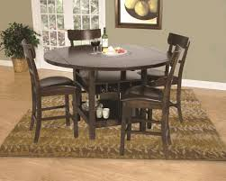 round table with lazy susan built in kane s furniture dining