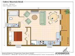 Small Floor Plans Cottages One Room Cabin Floor Plans Studio Plan Modern Casita House Plan