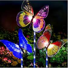 Solar Stake Garden Lights - garden solar lights outdoor 3 pack solar stake light multi color