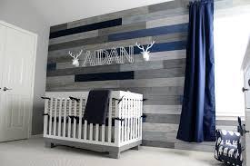 modern navy and grey rustic nursery project nursery wood walls