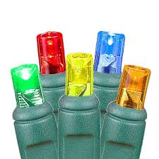 20 light battery operated multi colored on green wire novelty