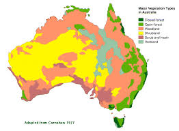 map of aus australia s vegetation australian plant information
