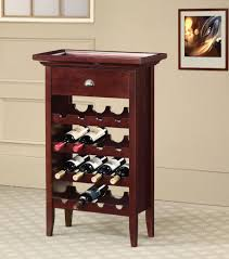 alluring brown color wooden wine rack features four modular shape