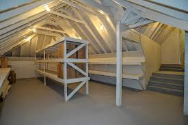 storage closet traditional with storage shelves attic