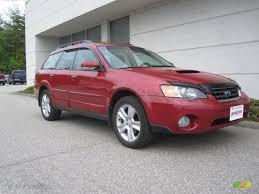 toyota subaru 2005 2005 garnet red pearl subaru outback 2 5xt wagon 29899827
