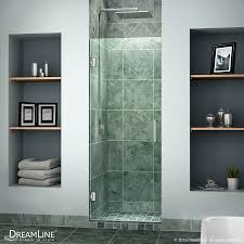 shop dreamline unidoor 24 in to 24 in w frameless chrome hinged