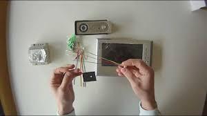 Front Door Video Monitor by Genway Doorphone 4 Wire System Youtube