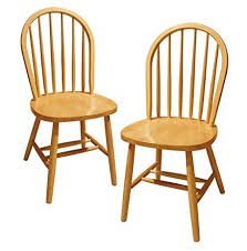 High Back Windsor Armchair Amazon Com Winsome Wood Windsor Chair Natural Set Of 2 Chairs