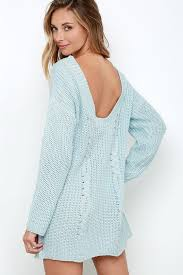 Light Blue High Low Dress Somedays Lovin U0027 Ralphie Dress Light Blue Dress Sweater Dress
