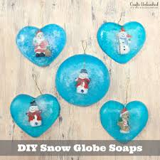 how to make soap inspired by snow globes