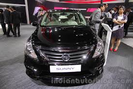 black nissan 2016 nissan sunny sportech front at 2016 auto expo indian autos blog