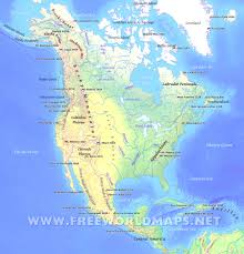 Las Americas Outlet Map by North America Map Physical America Map